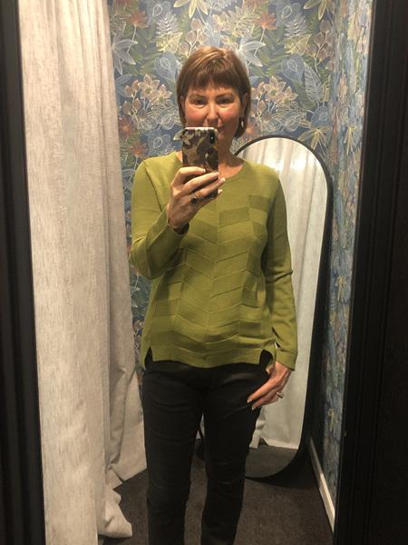 Herringbone Sweater - Olive