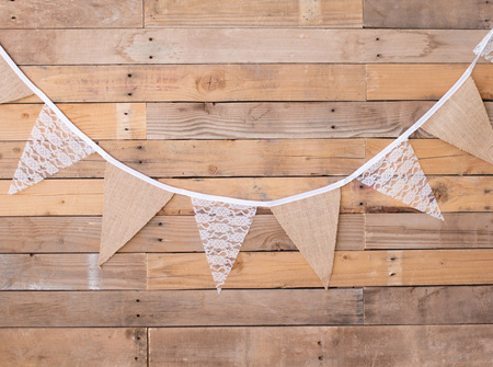 Hessian and lace bunting - 3m long
