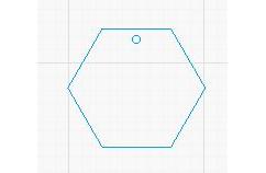 Hexagon Acrylic Blank (various sizes)