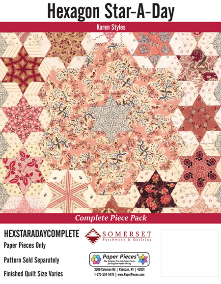 Hexagon-Star-A-Day by Karen Styles (Paper Pieces)