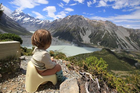 hiking elimination communication baby view potty training nz