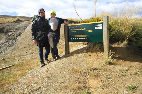 hiking welcome rock trails baby tramping nz