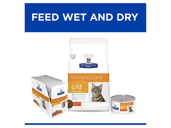 Hill's Prescription Diet c/d Multicare Chicken Cat food pouches