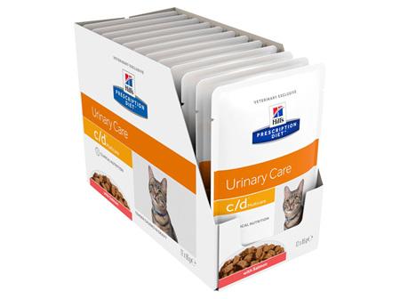 Hill's Prescription Diet c/d Multicare Salmon Cat food pouches