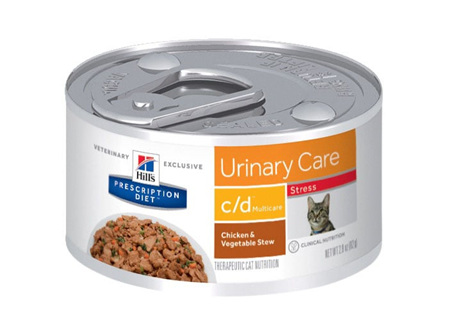 Hill's Prescription Diet c/d Multicare Stress Urinary Care Chicken & Vegetable Stew Canned Cat Food
