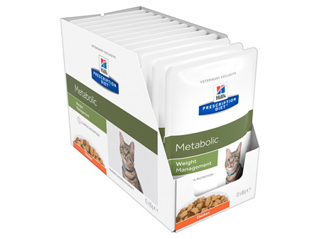 Hill's Prescription Diet Metabolic Weight Management Cat food pouches