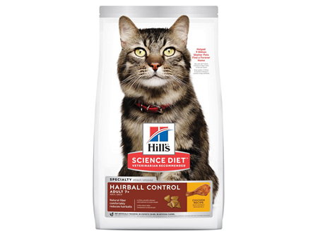 Hill's Science Diet Adult 7+ Hairball Control Senior Dry Cat Food