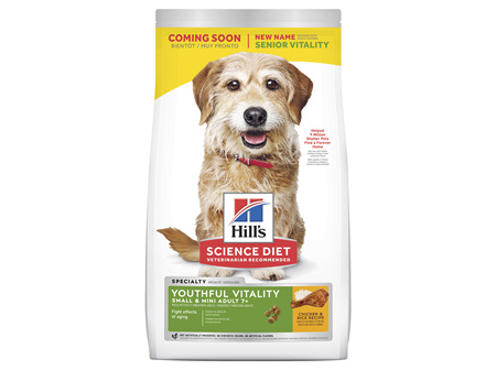Hill's Science Diet Adult 7+ Youthful Vitality Small & Mini Senior Dry Dog Food