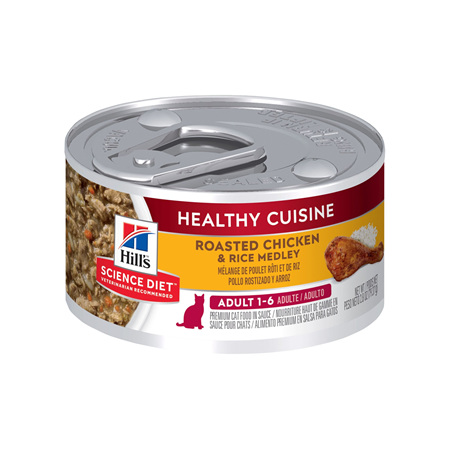 Hill's Science Diet Adult Healthy Cuisine Chicken & Rice Medley Canned Cat Food, 79g, 24 Pack
