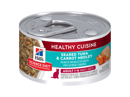 Hill's Science Diet Adult Healthy Cuisine Tuna & Carrot Medley Canned Cat Food, 79g, 24 Pack