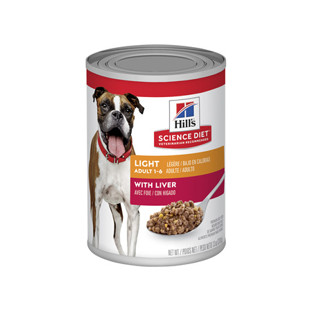 Hill's Science Diet Adult Light Liver Canned Dog Food, 370g, 12 pack