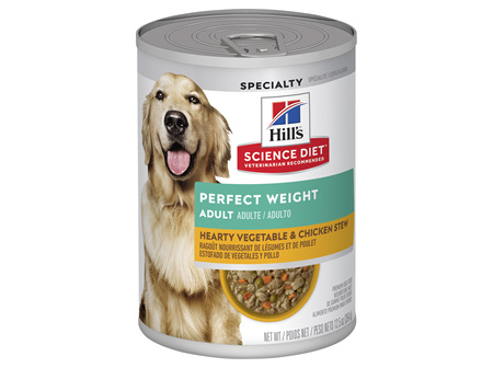 Hill's Science Diet Adult Perfect Weight Chicken & Vegetables Canned Dog Food, 363g, 12 pack