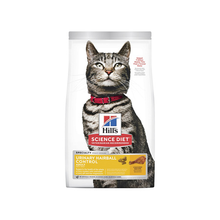 Hill's Science Diet Adult Urinary Hairball Control Dry Cat Food Chicken