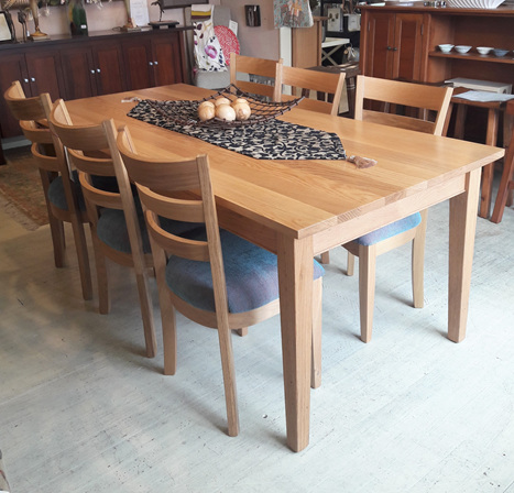 Hilton Dining Table Oak Natural Made in New Zealand to order
