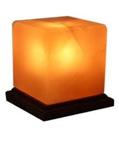 Himalayan Salt Lamp cube 4-5 kg includes lead and bulb