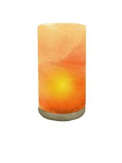 Himalayan Salt Lamp Cylinder 3-4kg includes lead and bulb