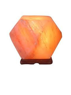 Himalayan Salt Lamp Hexagonal 3-4kg includes lead and bulb