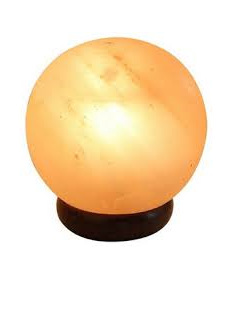 Himalayan Salt Lamp Sphere  4-5kg includes lead and bulb