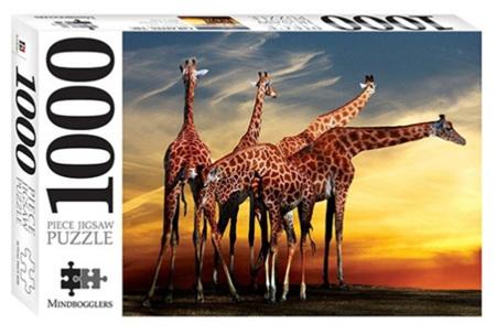 Hinkler 1000 Piece Jigsaw Puzzle: Giraffe's - Open Air Zoo France