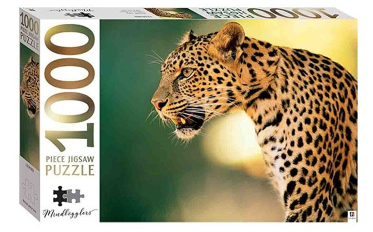 Hinkler 1000 piece jigsaw puzzle LEOPARD buy at www.puzzlesnz.co.nz