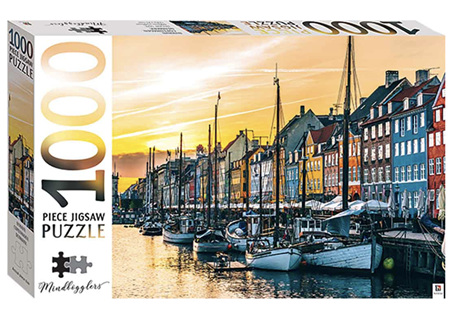 Hinkler 1000 Piece Jigsaw Puzzle: Nyhavn, Copenhagen, Denmark