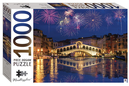 Hinkler 1000 Piece Jigsaw Puzzle: Rialto Bridge Italy