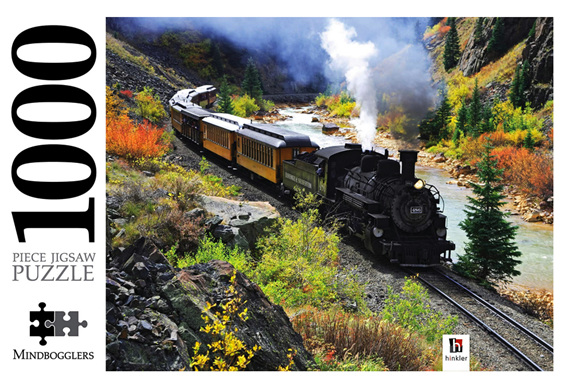 Hinkler  1000 piece   puzzle Durango Railroad at www.puzzlesnz.co.nz