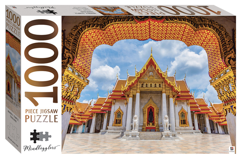 Hinkler 1000 Piece Puzzle: Marble Temple, Thailand buy at www.puzzlesnz.co.nz