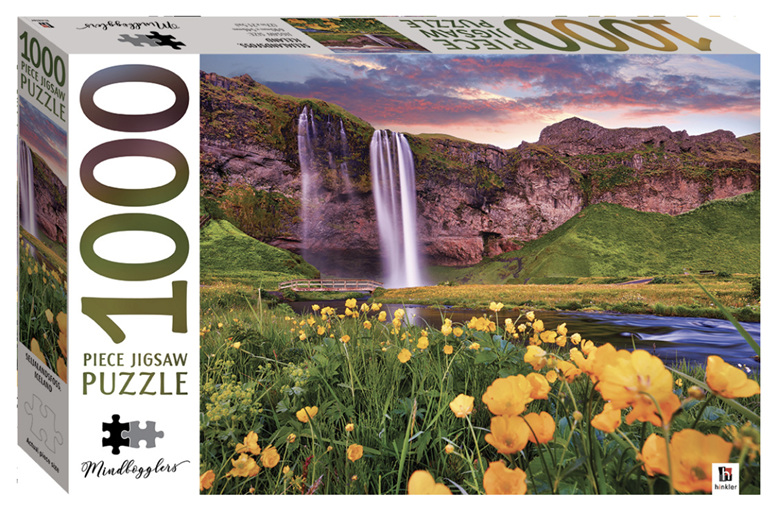 Hinkler 1000 Piece Puzzle:  Seljalandsfoss, Iceland buy at www.puzzlesnz.co.nz