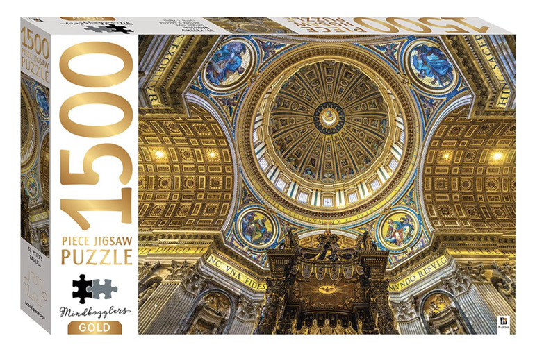 Hinkler  1500 Piece Jigsaw Puzzle: St. Peter's Basilica buy at www.puzzlesnz.co.