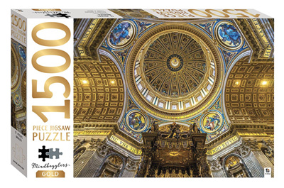 Hinkler Mindbogglers Gold 1500 Piece Jigsaw Puzzle: St. Peter's Basilica