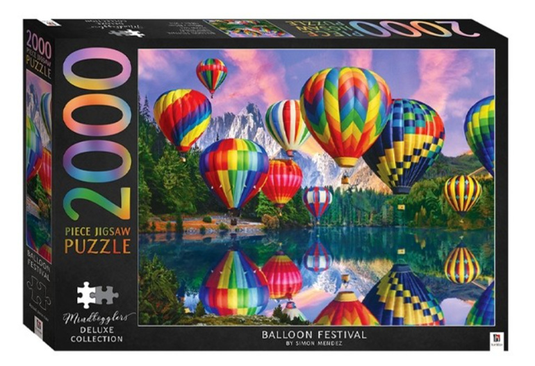 Hinkler  2000 Piece Jigsaw Puzzle Balloon Festival  buy  at www.puzzlesnz.co.nz