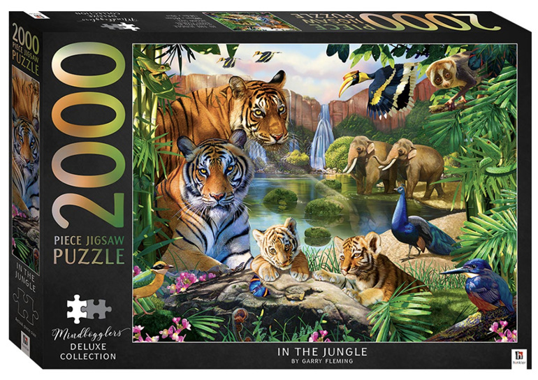 Hinkler 2000 piece jigsaw puzzle In The Jungle buy at www.puzzlesnz.co.nz