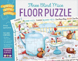 Hinkler Three Blind Mice Floor Puzzle With Poster And Book