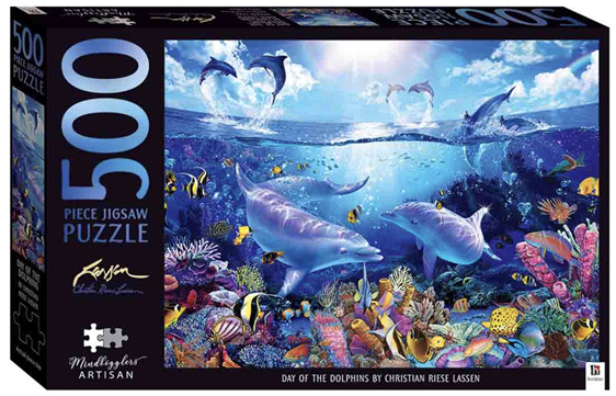 Hinkler 500 piece jigsaw puzzle Day of the Dolphin at www.puzzlesnz.co.nz