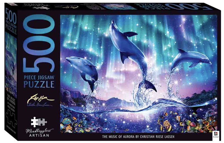 Hinkler 500 piece jigsaw puzzle Music Of The Aurora at www.puzzlesnz.co.nz
