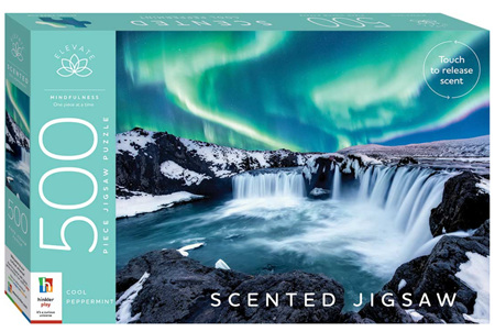 Hinkler Elevate Scented 500 Piece Jigsaw Puzzle: Cool Peppermint