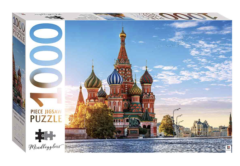 Hinkler Mindboggler 1000 Piece Puzzle Moscow Cathedral at www.puzzlesnz.co.nz