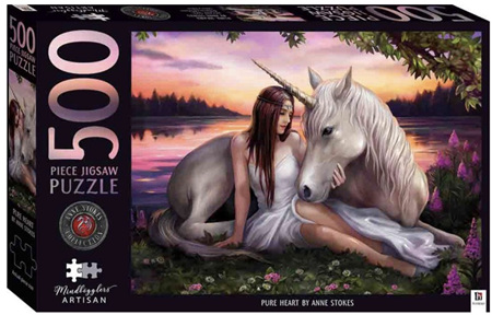 Hinkler Mindbogglers Artisan 500 Piece Jigsaw Puzzle: Anne Stokes - Pure Heart