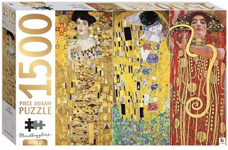 Hinkler Mindbogglers Gold: Klimt Collection   1500 Piece Jigsaw Puzzle