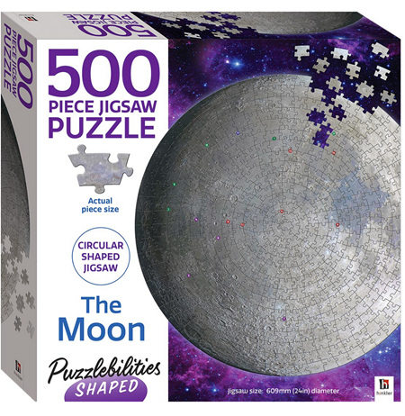 Hinkler Puzzlebilities Shaped 500 Piece Jigasw Puzzle: The Moon
