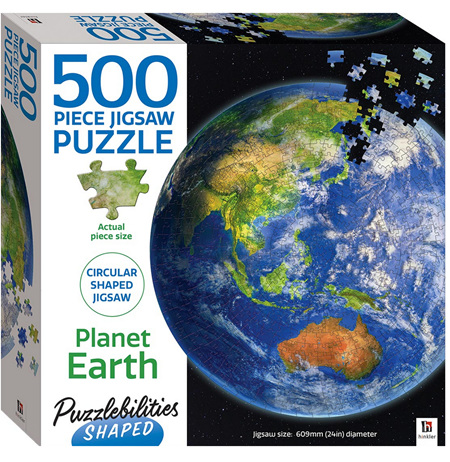 Hinkler Puzzlebilities Shaped 500 Piece Jigasw Puzzle: Planet Earth