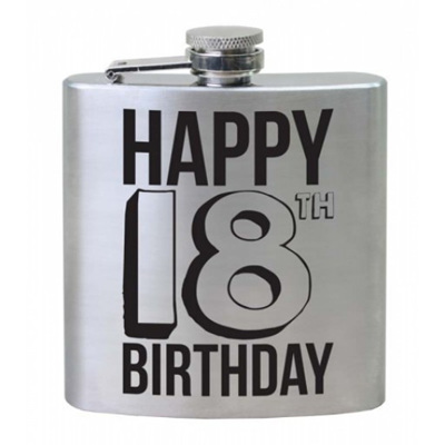 HIP FLASK 18TH BTHDAY