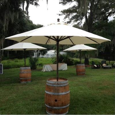 Wine Barrel w/ Umbrella