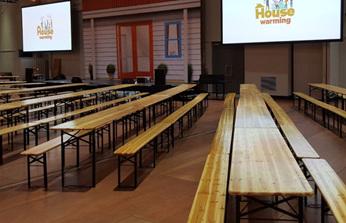 Hiremaster Bavarian bench and table sets