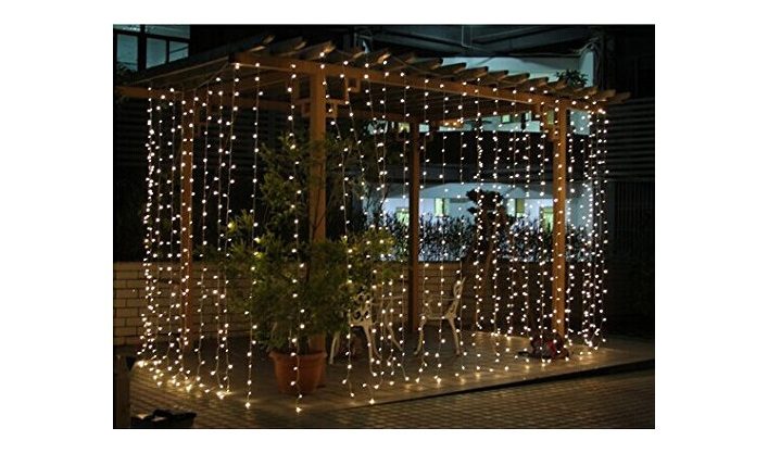 Hiring Outdoor Indoor 3x3m Connectable Curtain Lights - Warm White ...