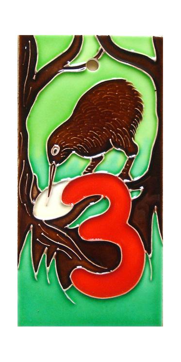 HN3 Number '3' New Zealand Kiwi