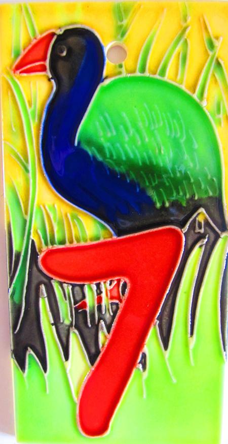HN7 Number  '7' New Zealand Takahe
