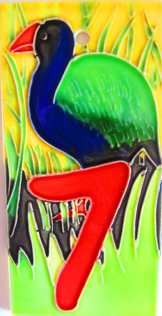 HN7 Number  '7' takahe