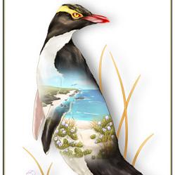 Hoiho Birds Eye View - A4 Print